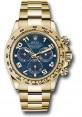 Exact Replica Rolex 116508 bla Daytona Yellow Gold Bracelet