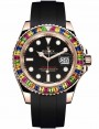 Replica Rolex Yacht-Master 40mm Rose Gold Rainbow Rubber Strap 116695SATS Watch