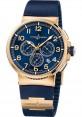 Replica Ulysse Nardin Marine Chronograph Manufacture Rose Gold 1506-150-3/63