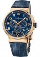Replica Ulysse Nardin Marine Chronograph Manufacture Rose Gold 1506-150/63