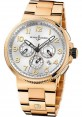Replica Ulysse Nardin Marine Chronograph Manufacture Rose Gold Silver Dial 1506-150-8M/61