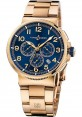 Replica Ulysse Nardin Marine Chronograph Manufacture Rose Gold Blue Dial 1506-150-8M/63