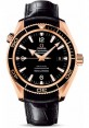 Exact Replica Omega Seamaster Planet Ocean 600M Co-Axial 42mm Red Gold Leather Strap 222.63.42.20.01.001 Watch