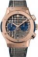 Replica Hublot Classic Fusion Chronograph Italia Independent Pieds de Poule King Gold 521.OX.2704.NR.ITI17