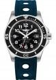 Exact Replica Breitling Superocean II 42mm Black Dial Blue Ocean Racer II Strap A17365C9/BD67 Watch