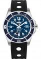 Exact Replica Breitling Superocean II 42mm Blue Dial Black Ocean Racer II Strap A17365D1/C915 Watch