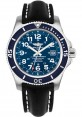 Exact Replica Breitling Superocean II 44mm Blue Dial Black Leather Strap A17392D8/C910 Watch