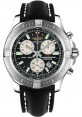 Replica Breitling Colt Chronograph Black Dial Black Leather Strap A7338811/BD43