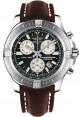 Replica Breitling Colt Chronograph Black Dial Brown Leather Strap A7338811/BD43