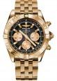 Replica Breitling Chronomat 44 Rose Gold Polished Bezel Pilot Bracelet HB011012/B968