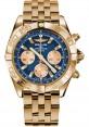 Replica Breitling Chronomat 44 Rose Gold Polished Bezel Pilot Bracelet HB011012/C790