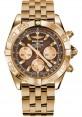 Replica Breitling Chronomat 44 Rose Gold Polished Bezel Pilot Bracelet HB011012/Q576