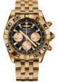 Replica Breitling Chronomat 44 Rose Gold Black Numbered Bezel Pilot Bracelet HB0110C1/B968
