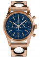 Replica Breitling Transocean Chronograph 38 Red Gold Air Racer Bracelet Blue Dial R4131012/C863 Watch