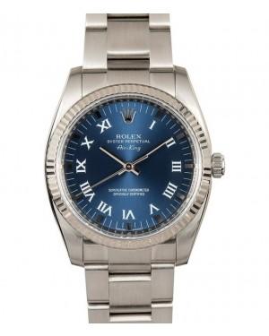 Replica Rolex Air-King 114234 Blue Roman Dial