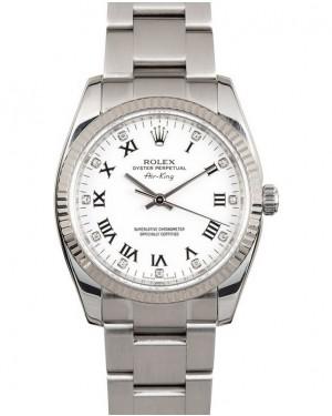Replica Rolex Air-King 114234 White Diamond Dial