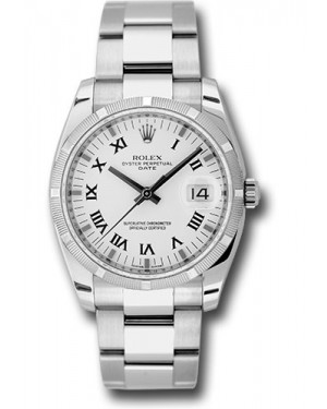 Exact Replica Rolex Oyster Perpetual Date 115210 wro 34mm Engine Turned Bezel Oyster Bracelet