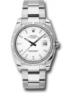 Exact Replica Rolex Oyster Perpetual Date 115210 wio 34mm Engine Turned Bezel Oyster Bracelet
