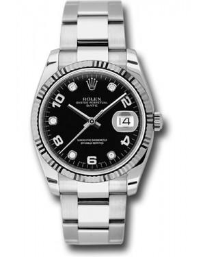 Exact Replica Rolex Oyster Perpetual Date 115234 bkdo 34mm Fluted Bezel Oyster Bracelet