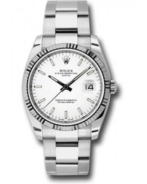 Exact Replica Rolex Oyster Perpetual Date 115234 wio 34mm Fluted Bezel Oyster Bracelet
