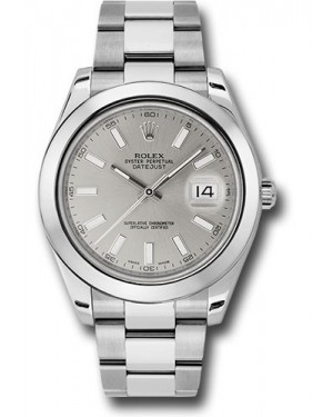 Exact Replica Rolex Datejust II 116300 sio 41mm Stainless Steel Smooth Bezel Oyster