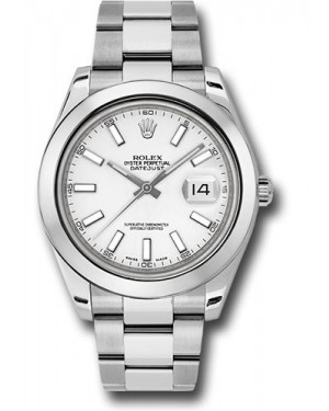 Exact Replica Rolex Datejust II 116300 wio 41mm Stainless Steel Smooth Bezel Oyster