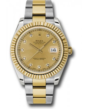 Exact Replica Rolex Datejust II 116333 chdo 41mm Steel and Yellow Gold Fluted Bezel Oyster