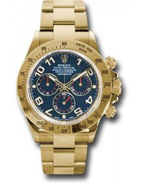 Exact Replica Rolex 116528 bla Daytona Yellow Gold Bracelet