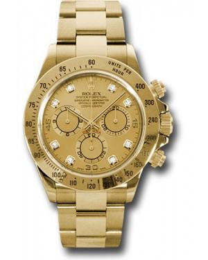 Exact Replica Rolex 116528 chd Daytona Yellow Gold Bracelet