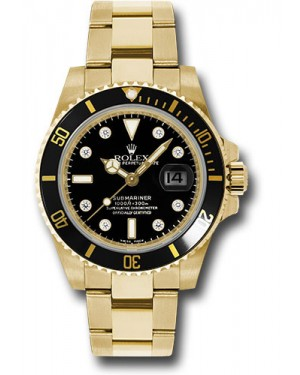 Exact Replica Rolex Submariner 116618 bkd Gold Watch