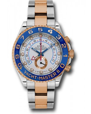 Replica Rolex Yacht-Master II Stainless Steel White Dial 116681 Watch