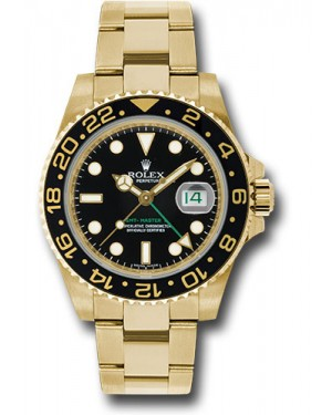 Exact Replica Rolex GMT-Master II 116718 bk Yellow Gold Watch