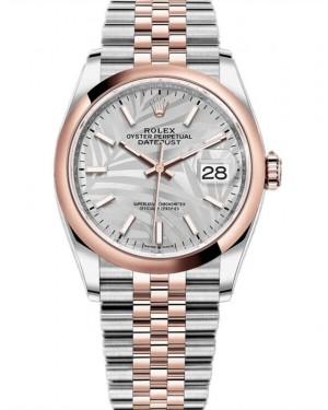 Replica Rolex Datejust 36 Two Tone Silver Palm Dial 126201-0031 Watch