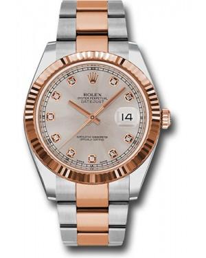 Replica Rolex Datejust 41 Steel & Pink Gold Sundust Diamond Dial 126331