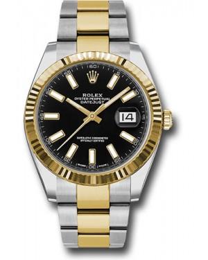 Replica Rolex Datejust 41 Two Tone Black Index Dial 126333