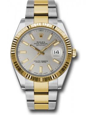 Replica Rolex Datejust 41 Two Tone Silver Index Dial 126333