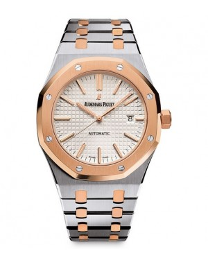 Exact Replica Audemars Piguet Royal Oak Lady Automatic 37mm Steel And Pink Gold 15450SR.OO.1256SR.01 Watch
