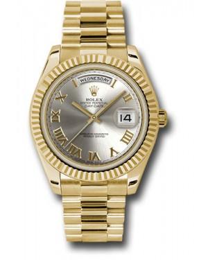 Exact Replica Rolex Day-Date II 218238 srp Yellow Gold Fluted Bezel Watch