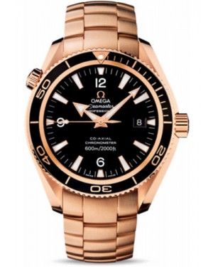 Exact Replica Omega Seamaster Planet Ocean 600M Co-Axial 42mm Red Gold 222.60.42.20.01.001 Watch