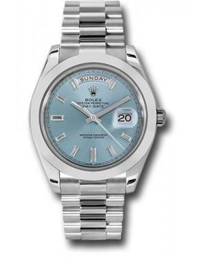Exact Replica Rolex Day-Date 40 228206 ibbdp Platinum Watch