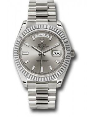 Exact Replica Rolex Day-Date 40 228239 sbdp White Gold Watch