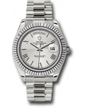 Exact Replica Rolex Day-Date 40 228239 sqmrp White Gold Watch
