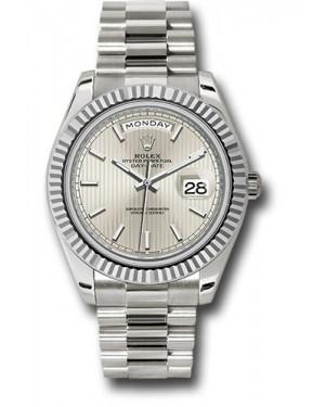 Exact Replica Rolex Day-Date 40 228239 ssmip White Gold Watch