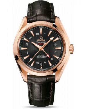 Exact Replica Omega Seamaster Aqua Terra 150M GMT 43 mm Red Gold 231.53.43.22.06.002 Watch