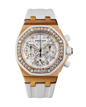 Exact Replica Audemars Piguet Royal Oak Offshore Lady Chronograph Pink Gold 26048OK.ZZ.D010CA.01 Watch