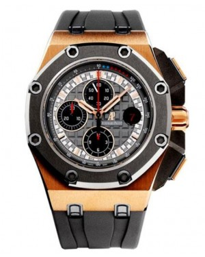 Replica Audemars Piguet Royal Oak Offshore Schumacher Rose Gold 26568OM.OO.A004CA.01