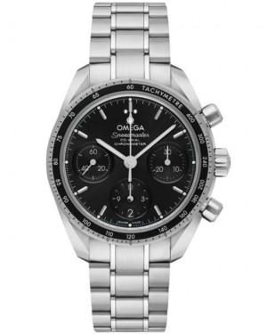 Replica Omega Speedmaster 38 Chronograph Black Dial 324.30.38.50.01.001