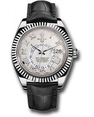 Replica Rolex Sky-Dweller White Gold Ivory Dial 326139 Watch