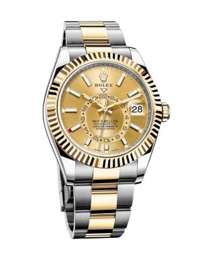 2017 Rolex Sky-Dweller 42 mm Steel and Yellow Gold 326933