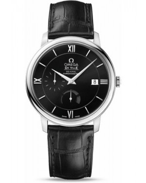 Exact Replica Omega De Ville Prestige Co-Axial Power Reserve 39.5 mm Stainless Steel Black Dial 424.13.40.21.01.001  Watch